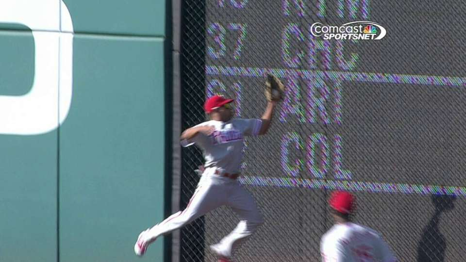Revere's leaping catch