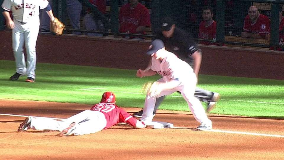 Trout's one-out triple