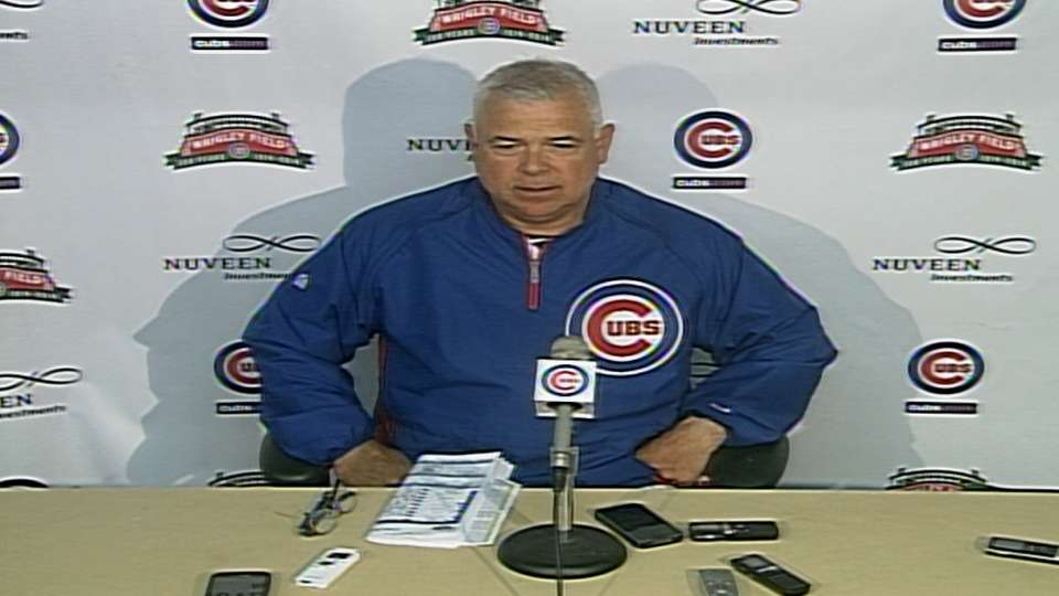 Renteria on Cubs win