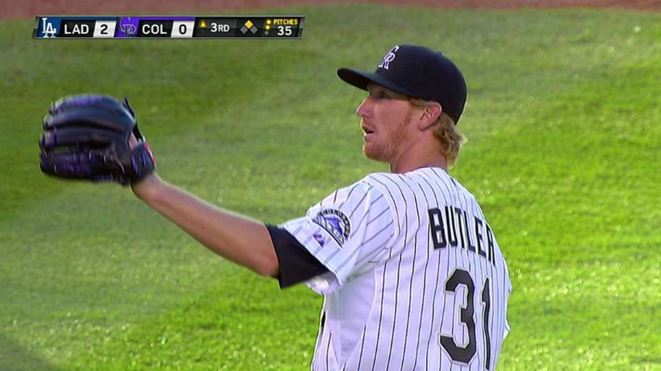Butler's first career strikeout
