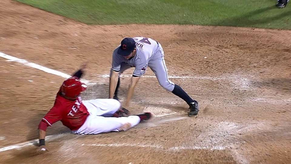 Indians' play at the plate