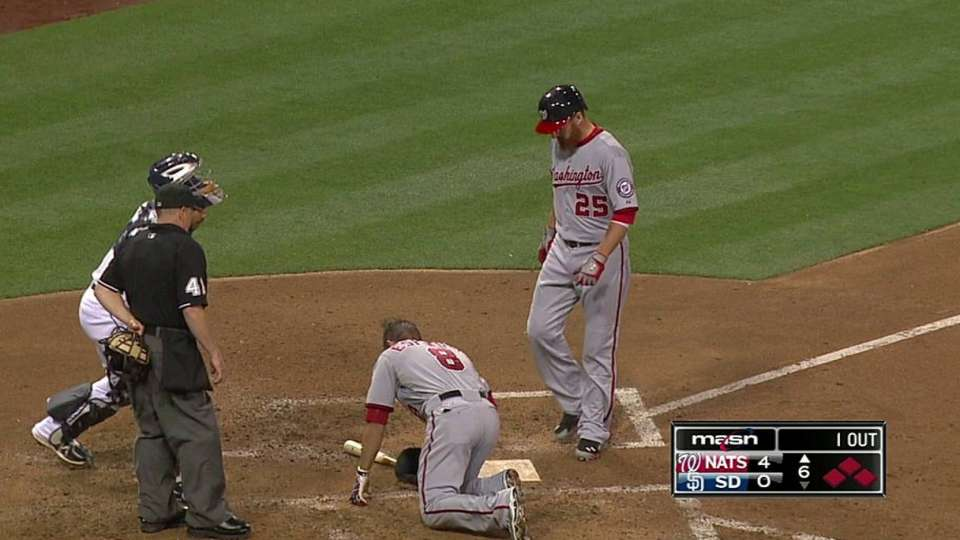 Espinosa hit by pitch