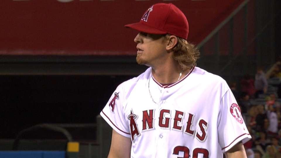 Weaver's nine strikeouts