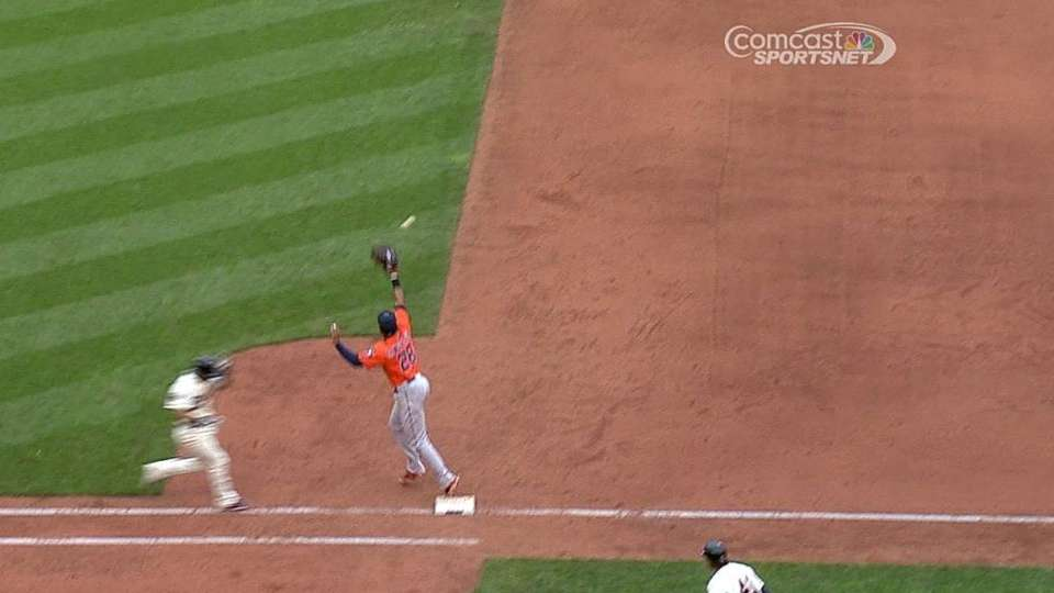 Gonzalez's strong throw