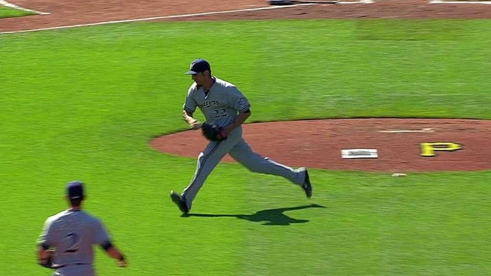 Garza's impressive catch