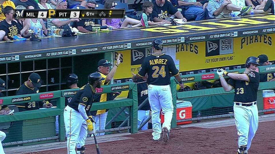 Pirates score on double play