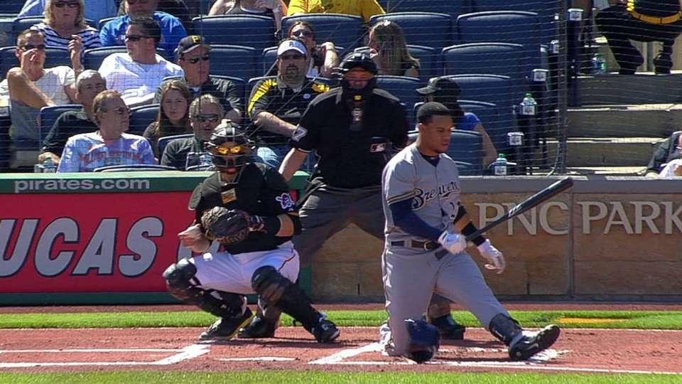 Gomez's intense swing