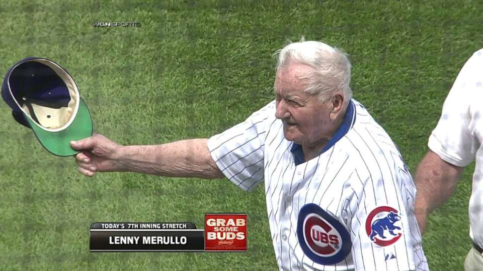 Merullo's first pitch
