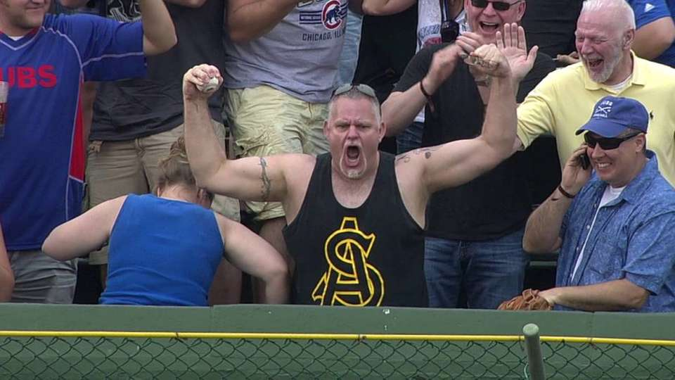 Cubs fan gets pumped