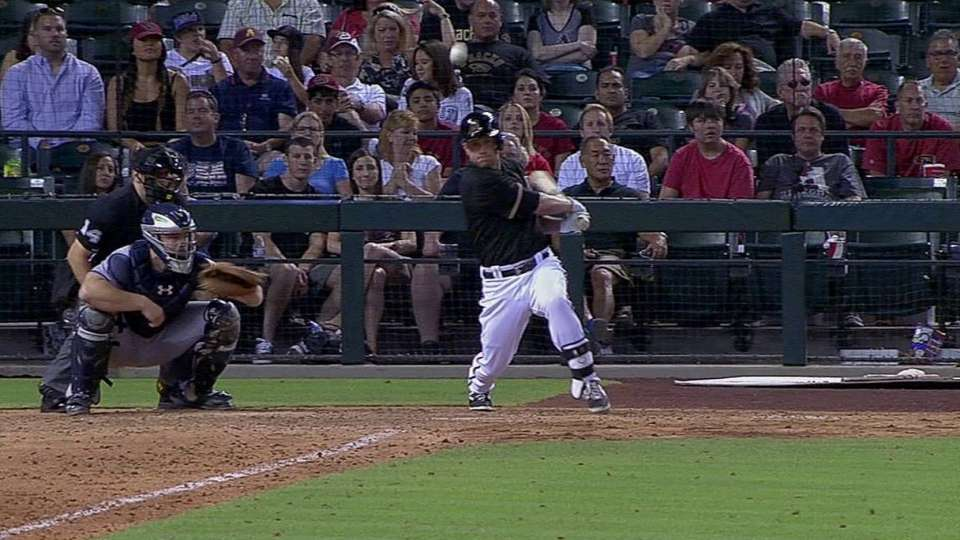 Hill's game-tying RBI double