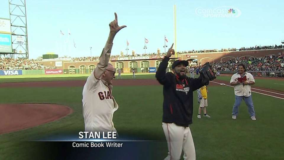 Stan Lee's first pitch