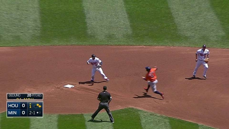 Twins' inning-ending double play