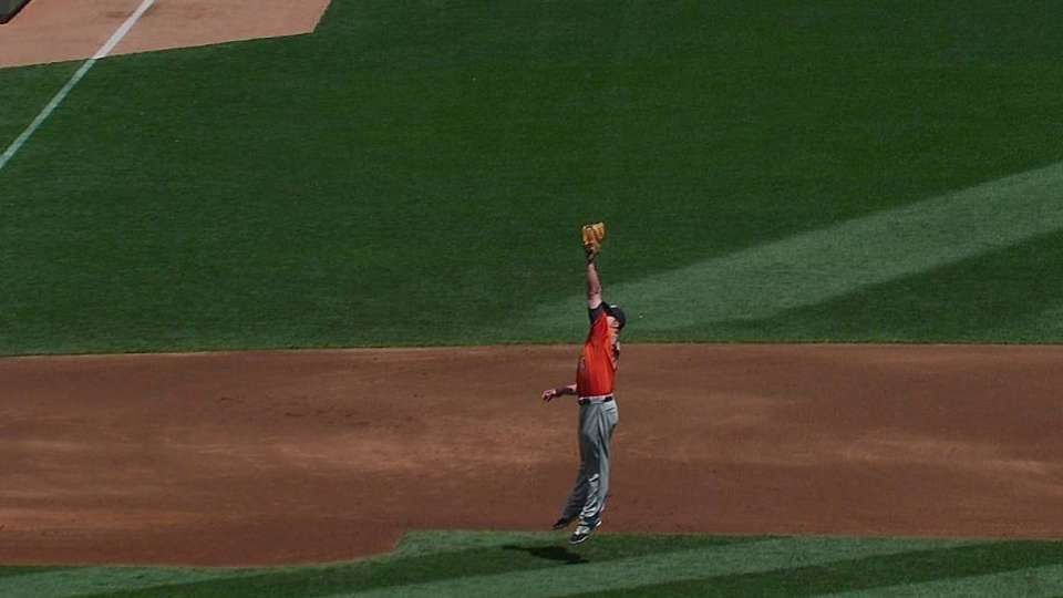 Dominguez's leaping catch