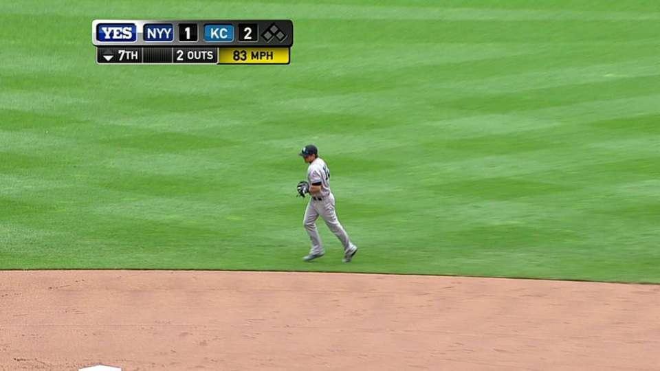 Roberts' leaping grab