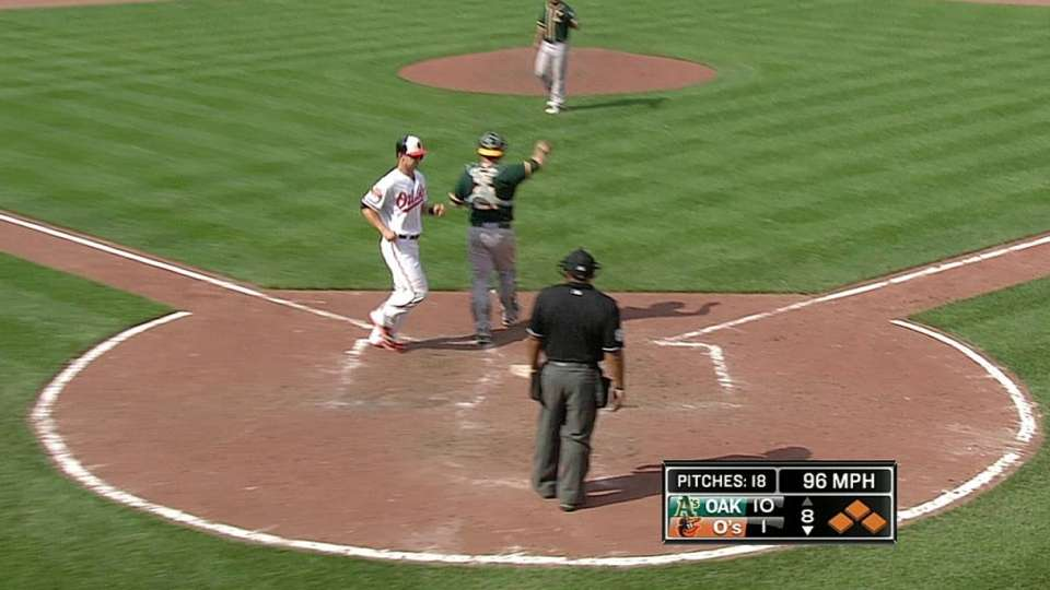 Davis' bases-loaded walk