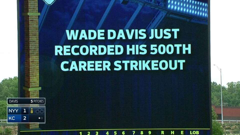 Davis' 500th career strikeout