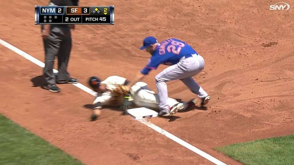 Mets throw out Blanco at third