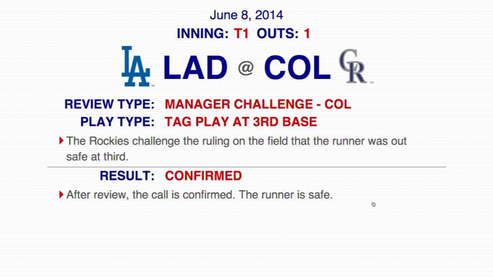 Call at third is confirmed