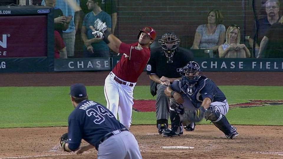 Peralta's first big league homer