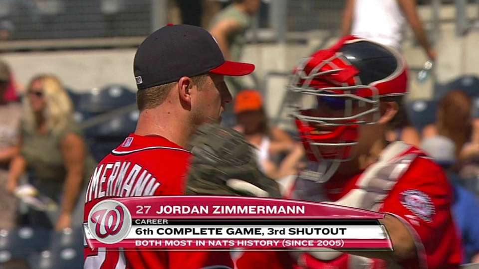 Zimmermann wraps up two-hitter