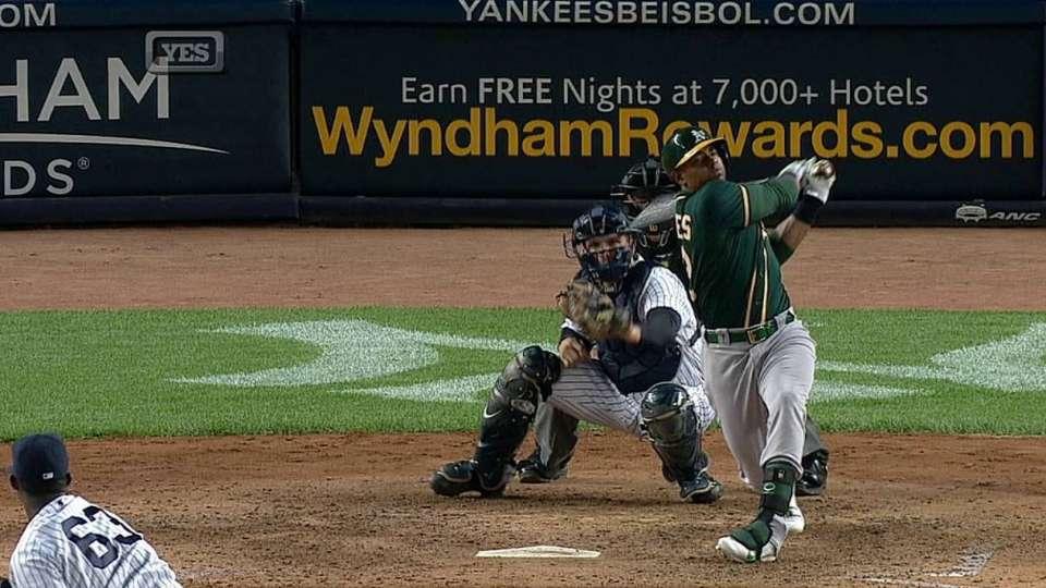 Ramirez's first career strikeout