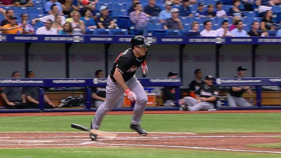 Realmuto's first career hit