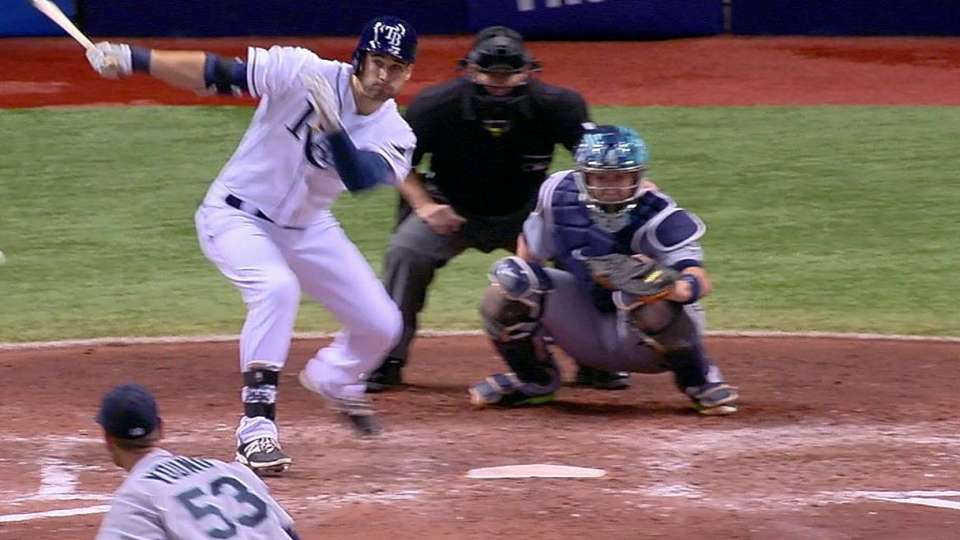 Kiermaier's one-out double