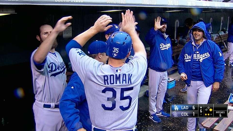 Romak, Rojas notch first hits