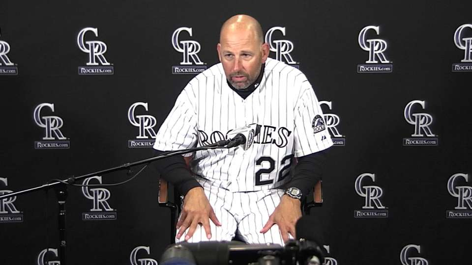 Weiss discusses Rockies' loss