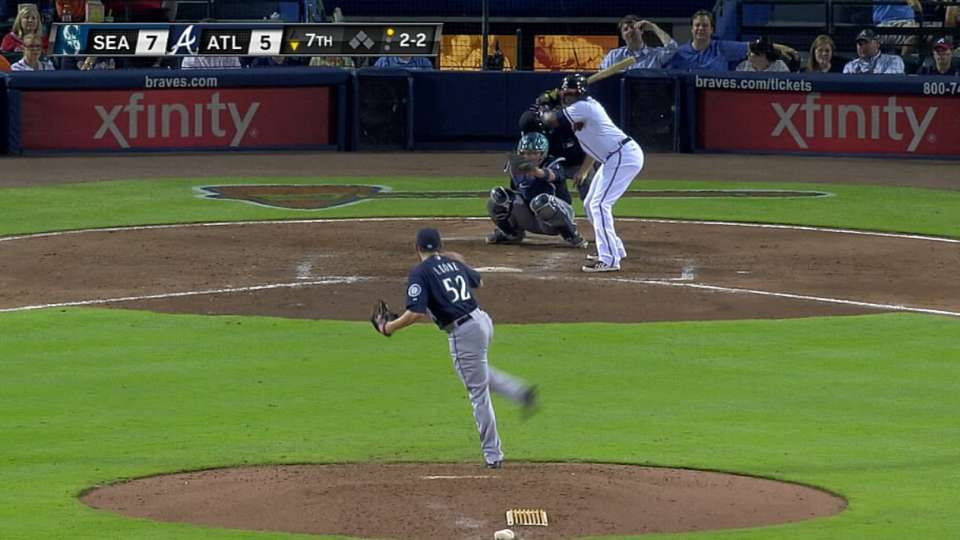Leone gets Upton looking