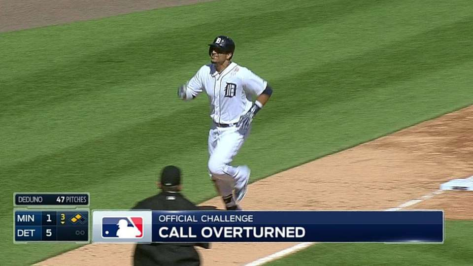 Umps review double to right