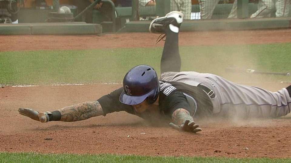 Barnes' inside-the-park home run