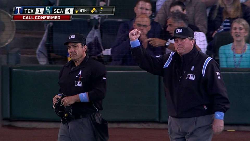 Out call confirmed at first base