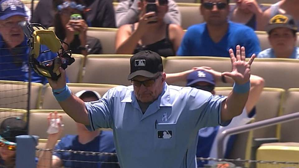 Foul call confirmed by umpires