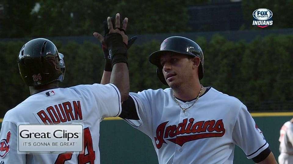 Umpires review Cabrera's homer