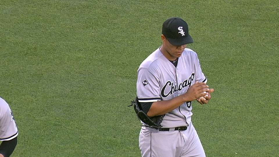 Quintana strikes out five