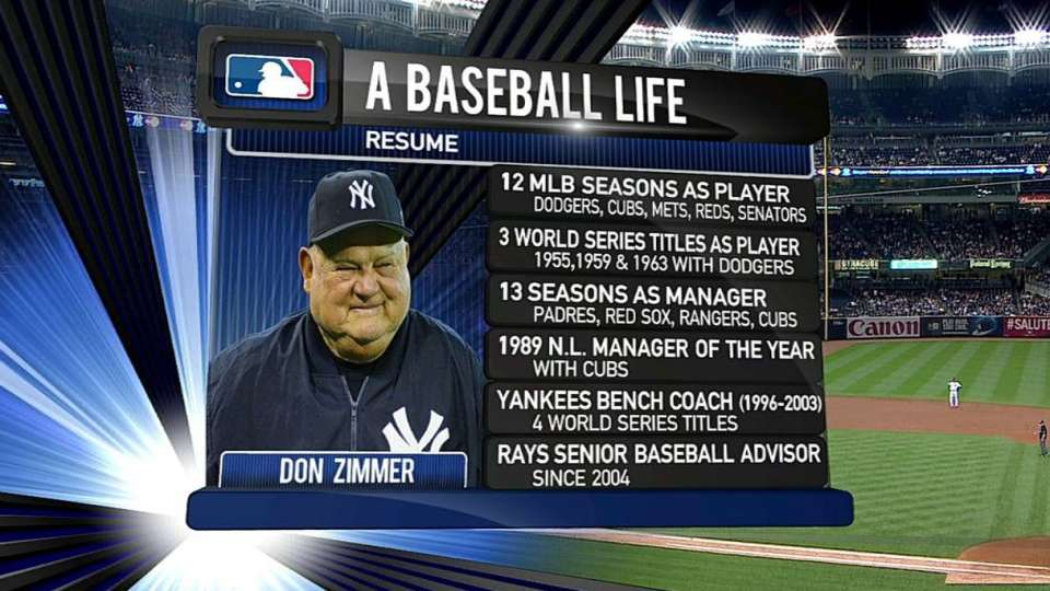 Yankees honor Zimmer