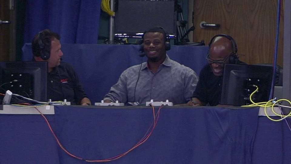 Griffey Jr. in the booth