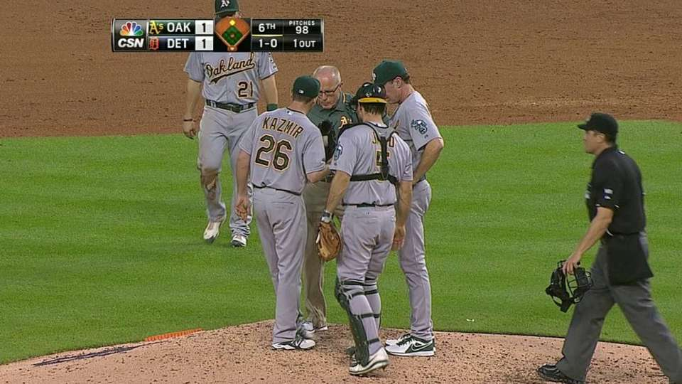 Kazmir's early exit