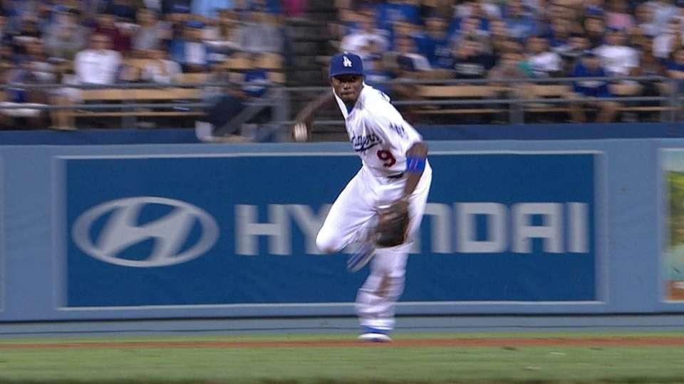 Gordon's off-balance throw