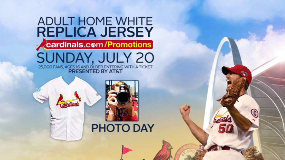 Cardinals home jersey giveaway