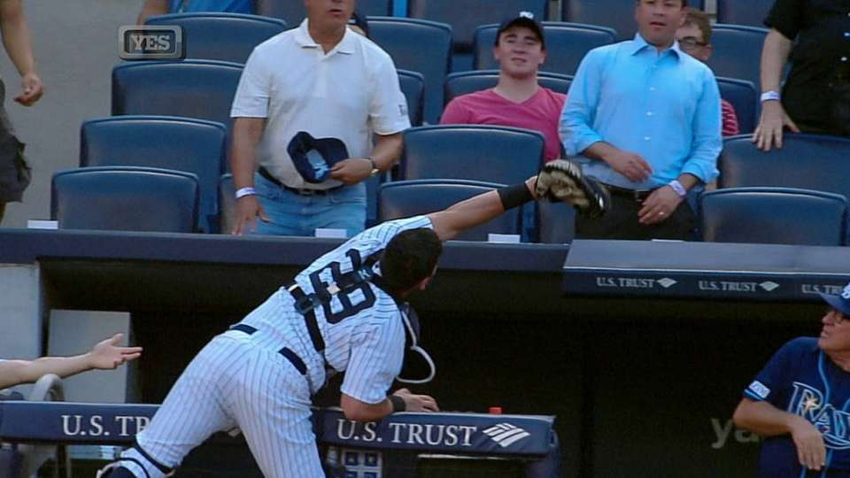 Cervelli's outstanding catch