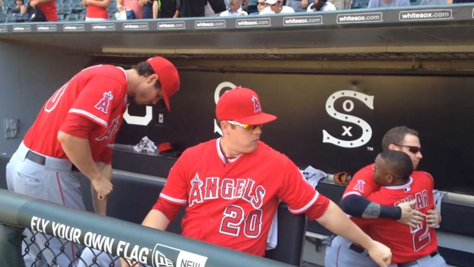 Angels get creative in dugout