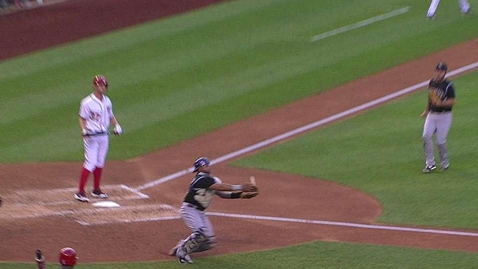 Rosario's nice catch