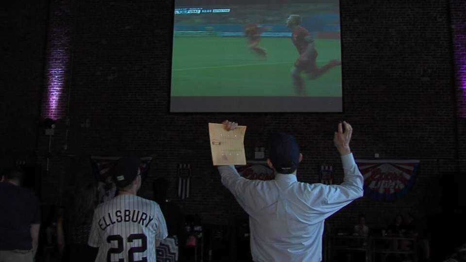 Fans watch World Cup
