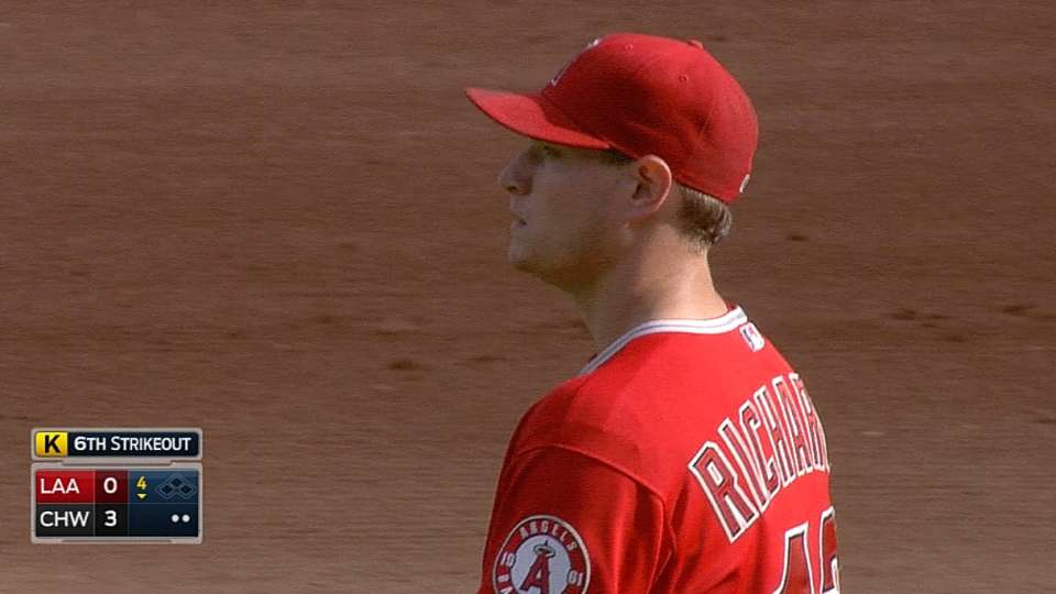 Richards' nine strikeouts
