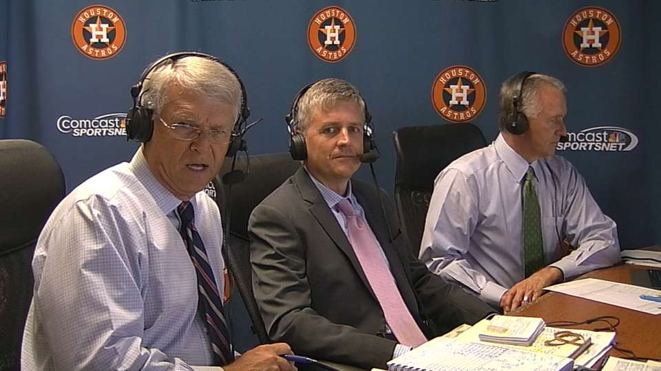 Astros GM Luhnow joins booth