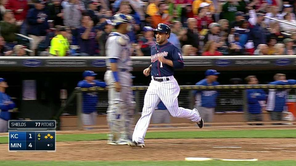 Mauer's two-run double