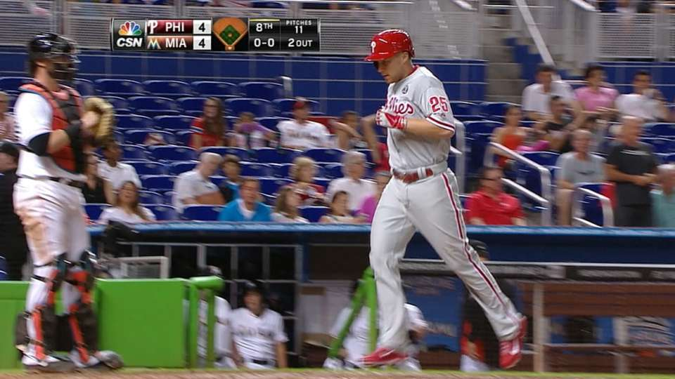 Asche's game-tying solo homer