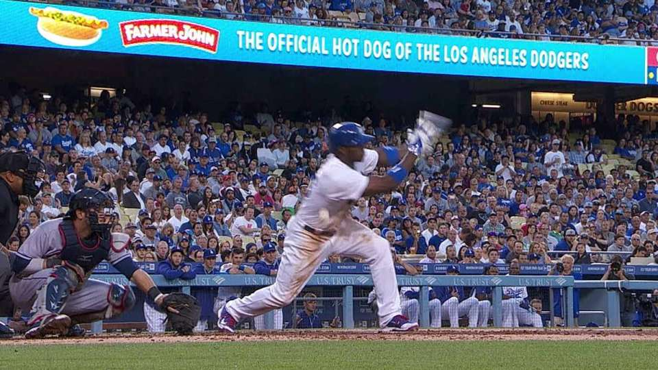 Puig fouls one off his side